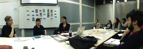 Encuentro con Alejandra Bliffeld en el marco del workshop 2014.
