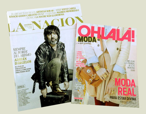 Revistas del Grupo La Nación: La Nación (revista dominical) y Ohlalá! (revista femenina).
