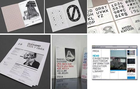 Manual de marca, aplicaciones y diseño tipográfico de Proa Font.