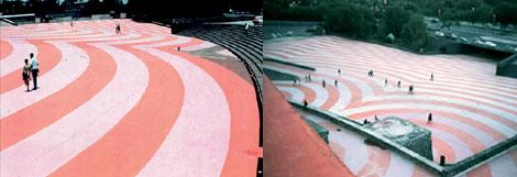 Arquigrafía del Estadio Olímpico, diseñada por Eduardo Terrazas.