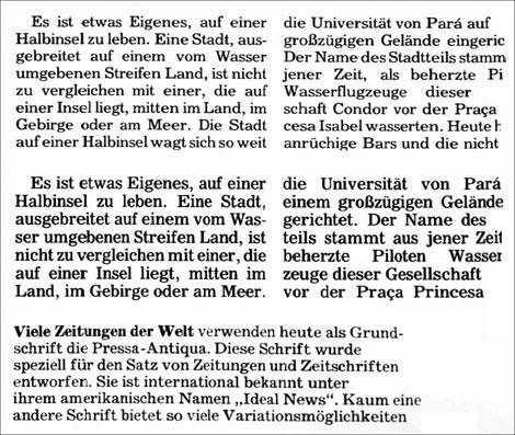 Fig. 6. Tipografías Textype, Rundfunk-Antiqua e Ideal News
