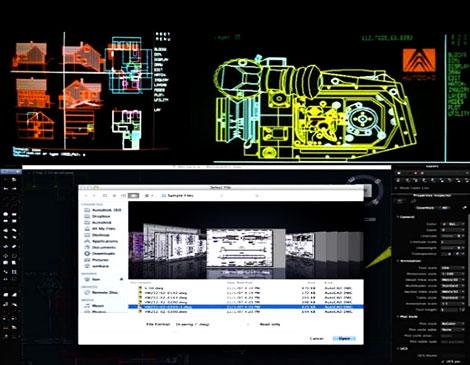 Variables en las pantallas e interfaces de AutoCAD, desde 1982 hasta 2014.