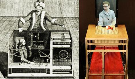 El autómata ajedrecista de Von Kempelen y los adelantos actuales sobre medios tangibles digitales desarrollados por el MIT  (en: http://tangible.media.mit.edu).