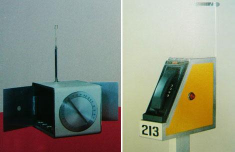 Diseño industrial: teléfonos y radios, 1974
