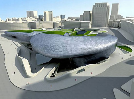 """Proyecto de Zaha Hadid para la Dongdaemun Design Plaza, con motivo de la nominación """"Seúl Ciudad del Diseño 2010"""""""