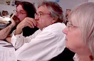 Mora Chague, Antoni Muntadas y Enrique Longinotti en el workshop 2006