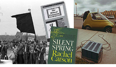 """De las manifestaciones populares y las publicaciones, a los productos """"verdes"""" (Fotografía: auto eléctrico GM)."""