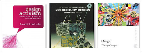 """Distintas versiones del concepto """"Design for Need"""": los libros de Fuad-Luke, de Julier y de McDermot."""