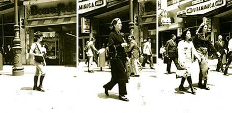 Figura 7: Peatones en la calle Florida, 1970, AGN.