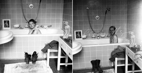 Fig. 2. Scherman y Miller en la bañera de Hitler. © www.leemiller.co.uk