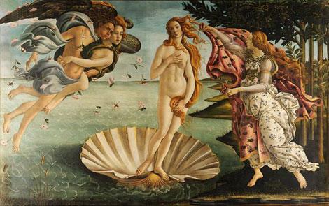 Sandro Boticelli, El Nacimiento de Venus (1482-1485)