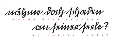Fig. 1. En 1911, el Reichstag abolió el uso de la kurrentschrift, una forma característica de la escritura manual, típica de las escuelas alemanas.