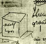 Tumba auto conmemorativa, bocetos y dibujos de Adolf Loos, 1931